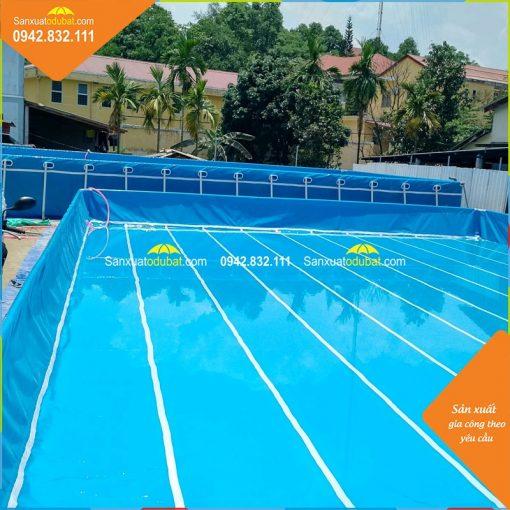 bể bơi di động khung kim loại