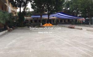 Dù che sân trường lắp đặt tại Vĩnh Tường