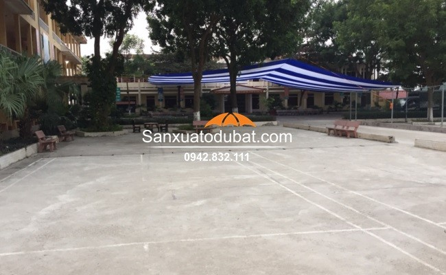 Dù che nắng sân trường tại Trường THCS Kim Xá  – Vĩnh Tường – Vĩnh Phúc