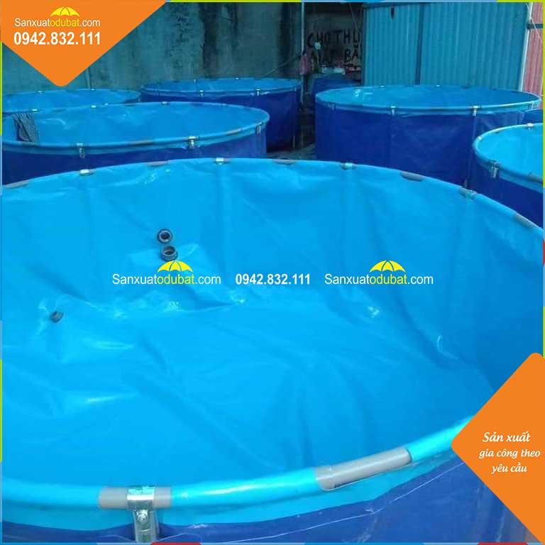 Bồn bể cá Koi hình tròn.