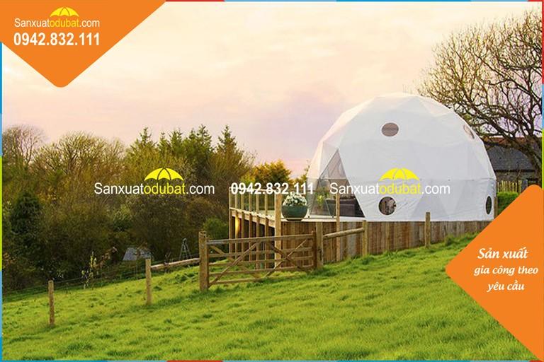 nhà lều mái vòm khung kim loại 1