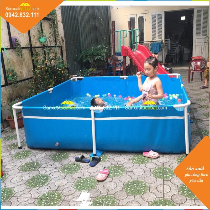 Bể bơi mini KT 2.2x2.2x0.6m