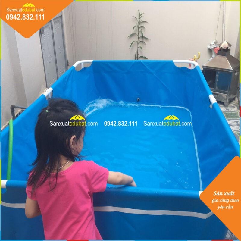 Bể bơi mini lắp đặt cho bé tại nhà